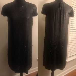 THEORY Silk Dress w/ Sequins